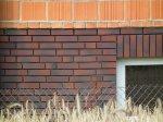 Ściana z płytkami klinkierowymi